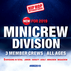 Introducing the MiniCrew Division Trios... Hip Hop International style!