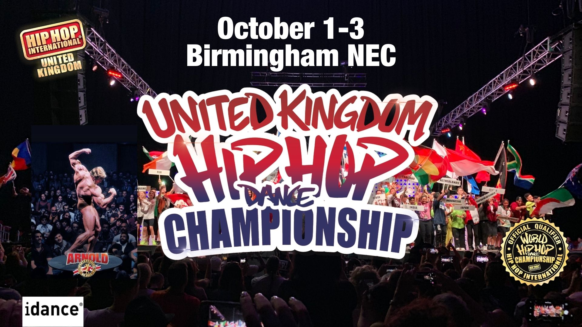UpcomingSPECTATOR Pre-Registration – UK Hip Hop Dance Championships (2022 World Qualifier) @Arnold Sports Festival Oct 1-3 2021